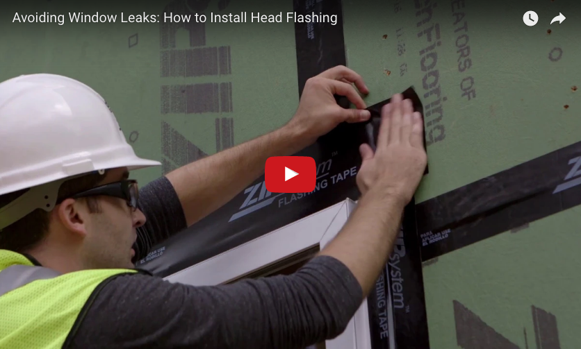 How To Install Head Flashing With Zip System Flashing Tape
