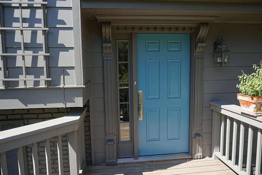 New Entry Door Trim Using Old Corbels Protradecraft