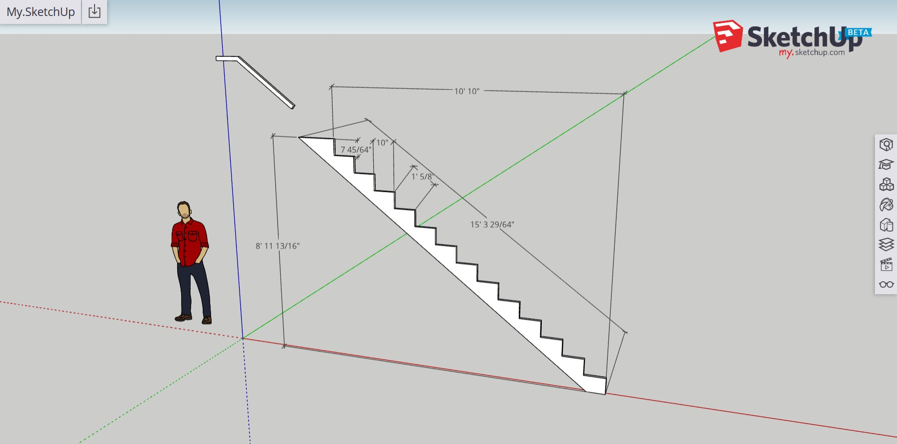 Stair Layout With A Visual Construction Calculator