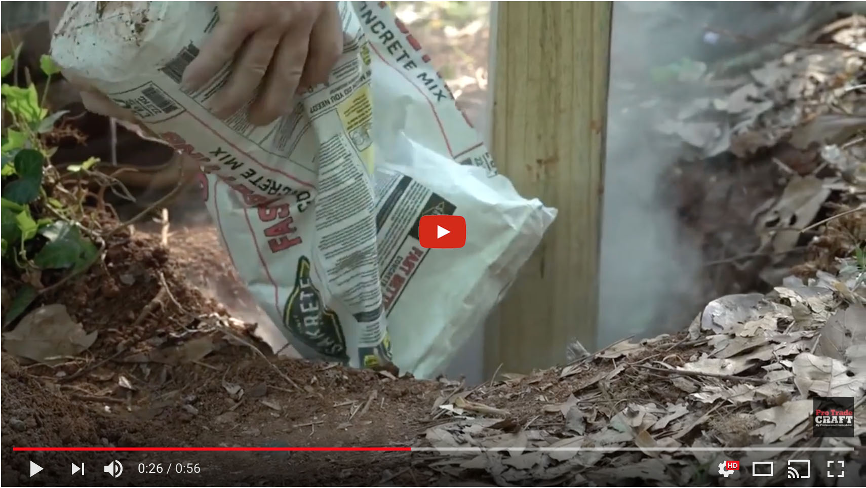 Fence Post Installation Without Mixing Concrete Protradecraft