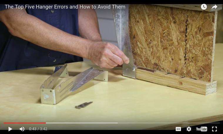 Top Five Joist Hanger Installation Errors Protradecraft