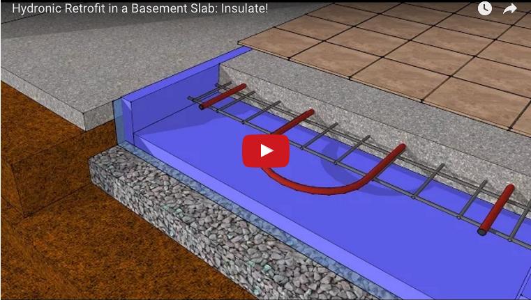 Retrofitting Hydronic Heating Into An Uninsulated Basement