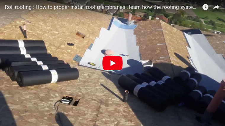 Water Tight Crickets Roll Roof Membrane For Tile Roofing