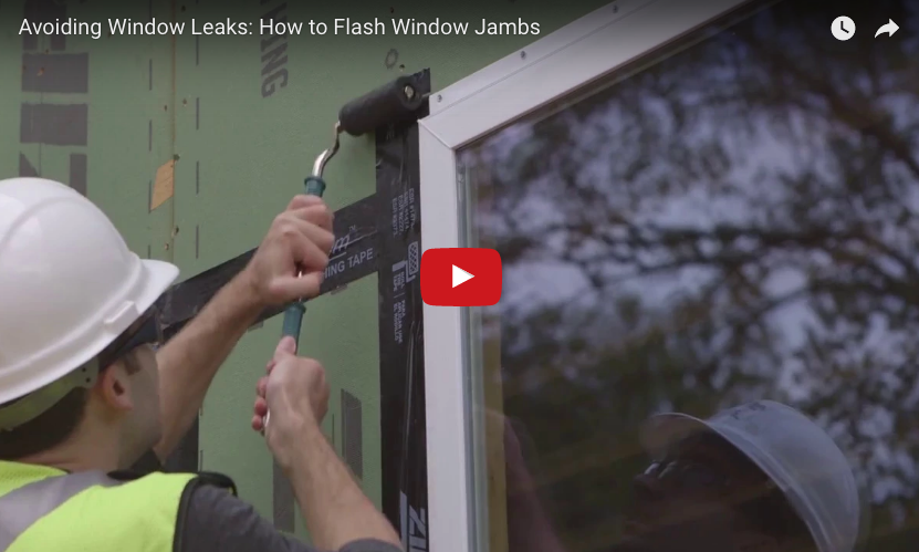 How To Flash Window Jambs With Zip System Flashing Tape