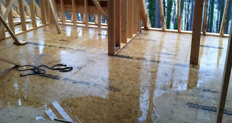 AdvanTech flooring is a water resistant, dimensionally stable engineered strand product that was designed to withstand exposure to moisture during normal construction delays.