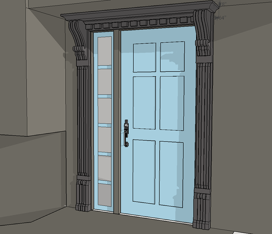 With an antique corbel in hand I was able to easily recreate a digital  duplicate in SketchUp. With a digital Corbel model and actual site  measurements of ... - New Entry Door Trim Using Old Corbels ProTradeCraft