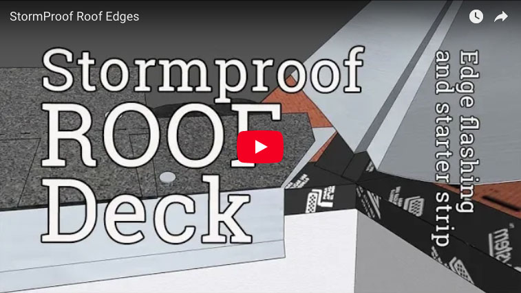 Stormproof Roof 2 Edge Flashing And Starter Strip
