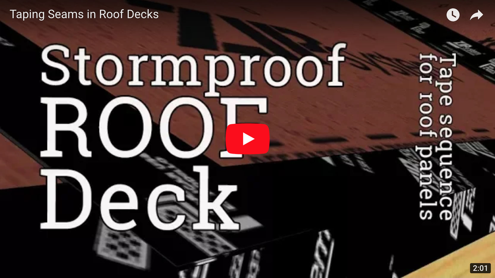 Stormproof Roof Deck Seam Taping Sequence Protradecraft
