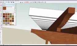 Sketchup pergola beam image