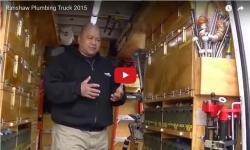Video about an organized plumbing van