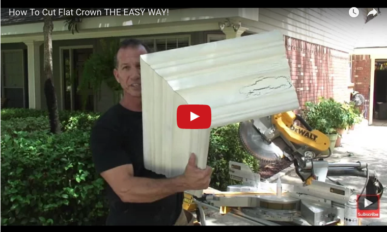 Video about how to cut crown molding flat