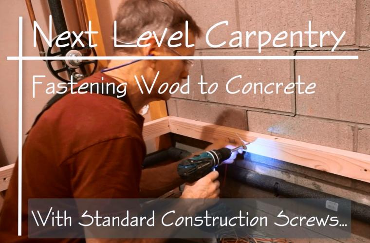 Screwing wood to concrete with predictable results is easy with this method.