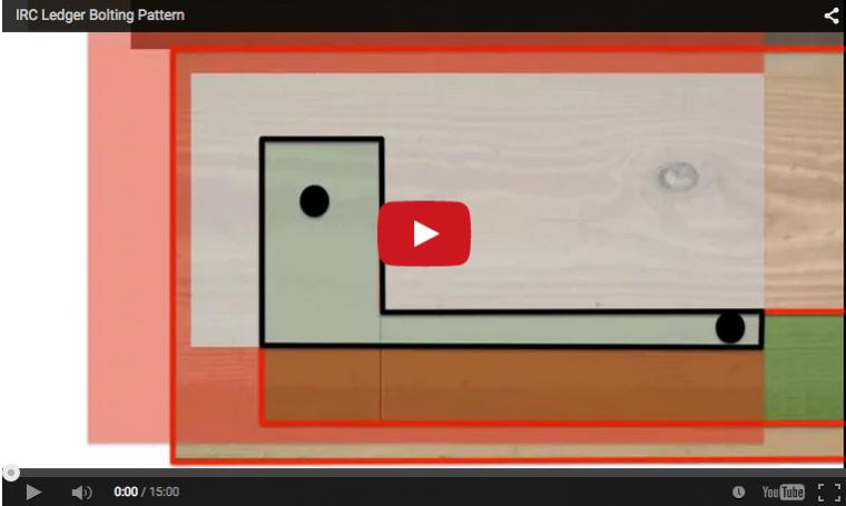 Deck ledger bolting patterns video image