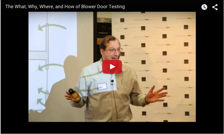 John Straube is excited about blower doors!