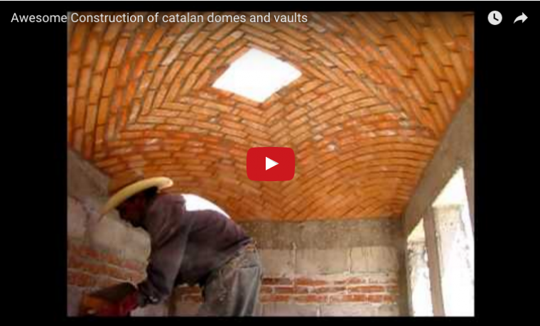 Catalan vault made with brick