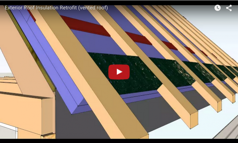 A video describing steps for exterior roof insulation