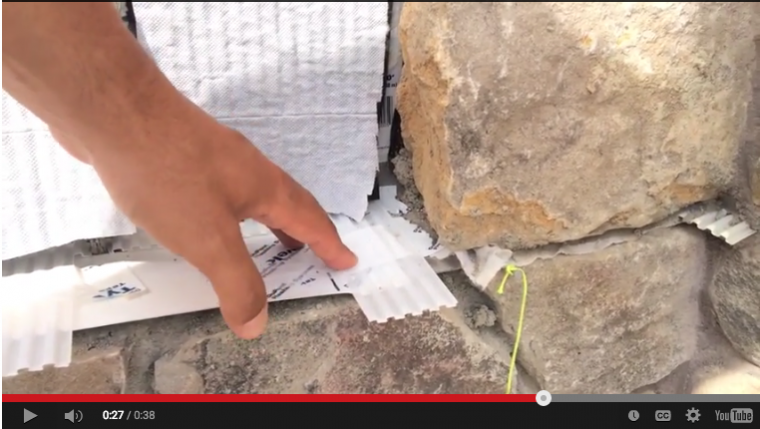 Ventilated stone veneer  — details to keep bugs out