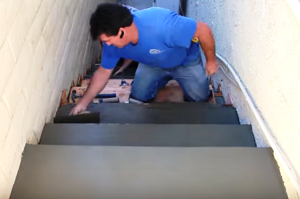 How to Form Place and Finish Concrete Stairs | ProTradeCraft